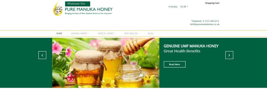 Pure Manuka Honey Wholesale